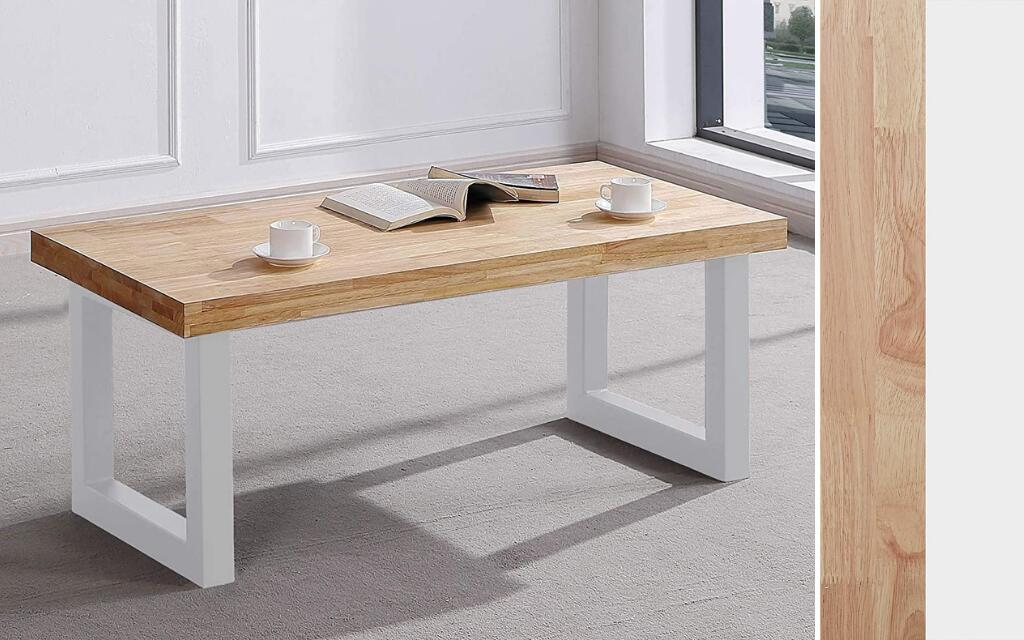 mesa de centro industrial blanca