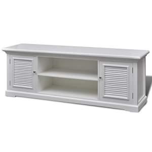 mueble tv industrial blanco