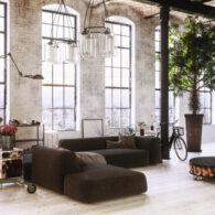 salon estilo industrial