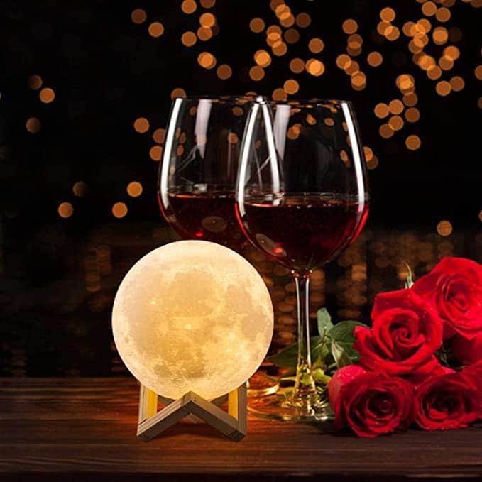 regalo especial lampara luna