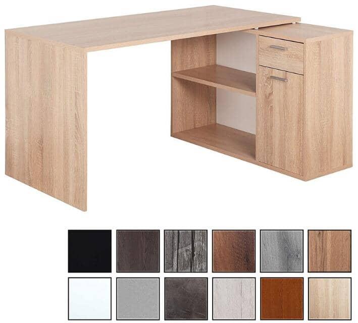 escritorio industrial de madera