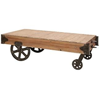 mesa de centro industrial con ruedas 05
