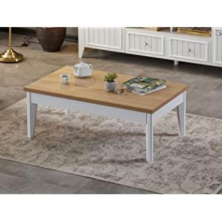 mesa de centro industrial blanca 03