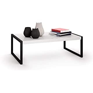 mesa de centro industrial blanca 01