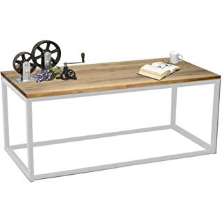 mesa de centro industrial blanca 08