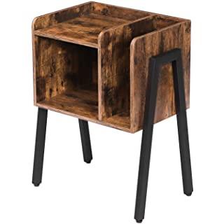 mesa de noche metal madera 02
