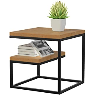 mesa de noche metal madera 03