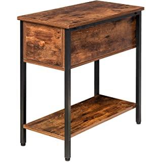 mesa de noche metal madera 05
