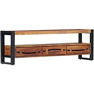 mueble para tv metal madera 08