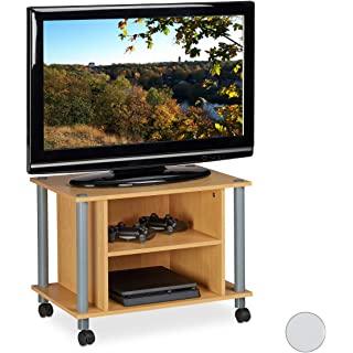 mueble para tv industrial con ruedas 10
