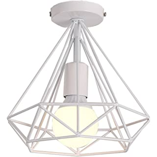 lampara de techo blanca industrial 03