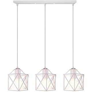 lampara de techo blanca industrial 04