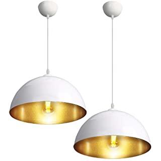 lampara de techo blanca industrial 06