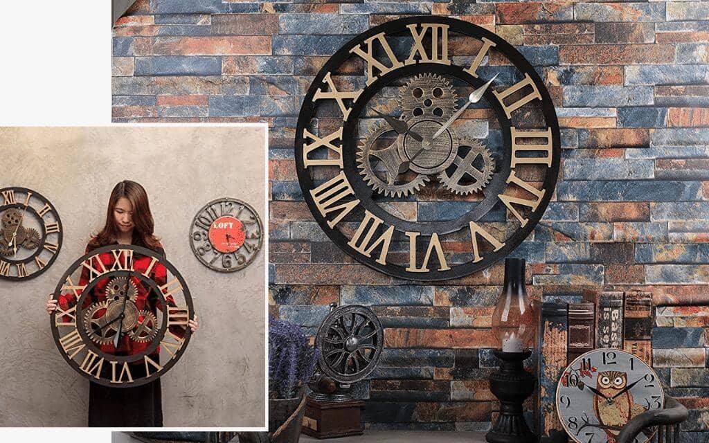 reloj industrial grande