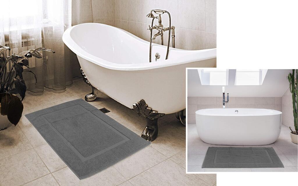 alfombra baño estilo industrial