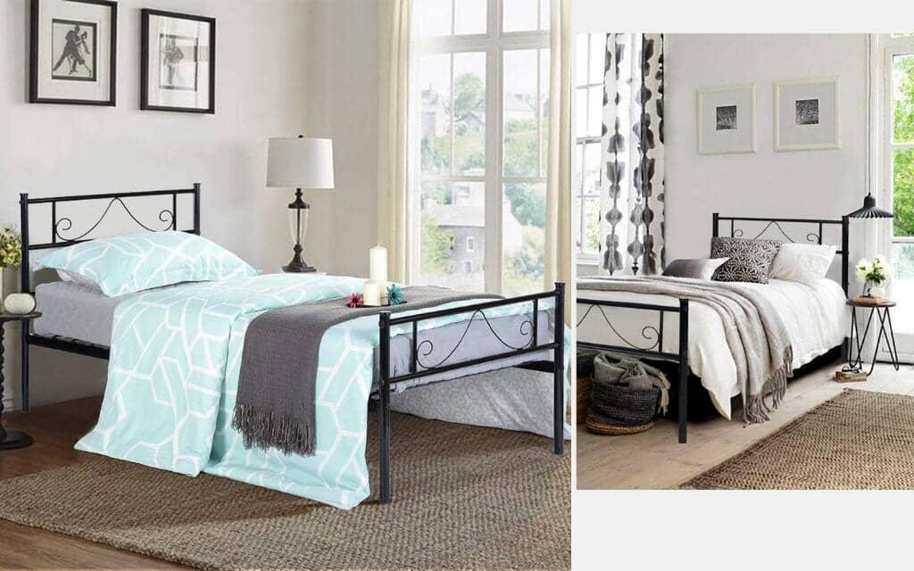 cama estilo industrial individual