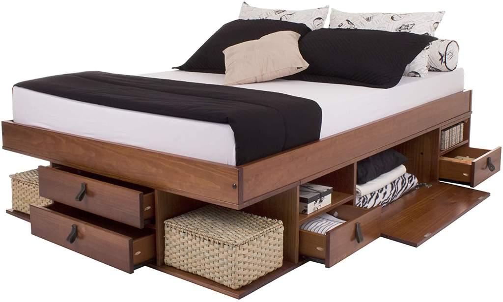 cama industrial madera de 2 plazas