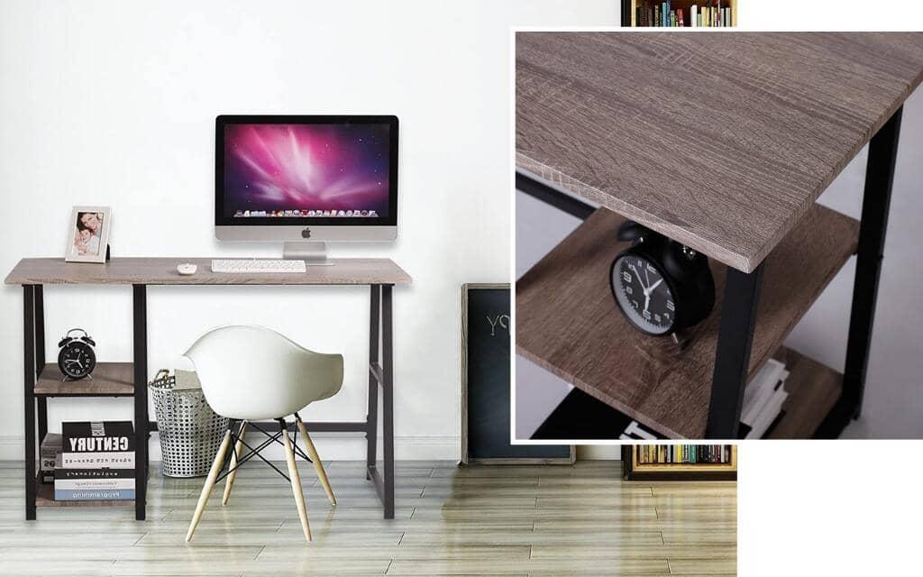 escritorio madera metal