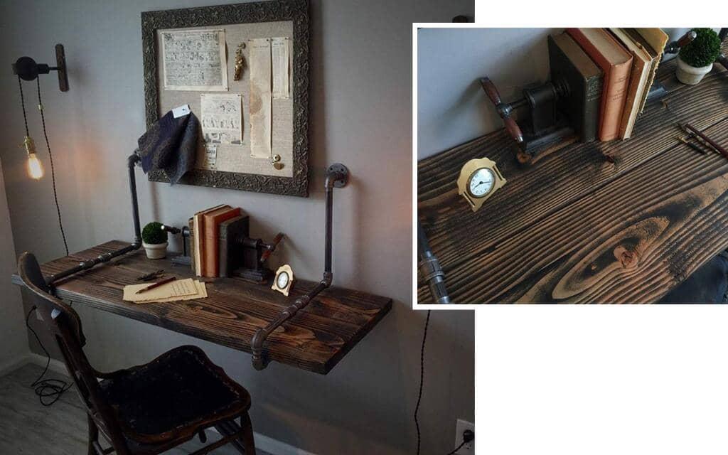 escritorio rustico industrial