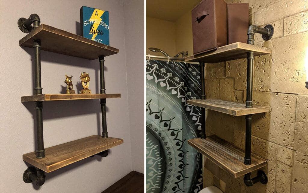 estantería vintage industrial