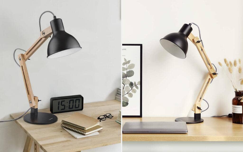 lámpara de escritorio estilo industrial