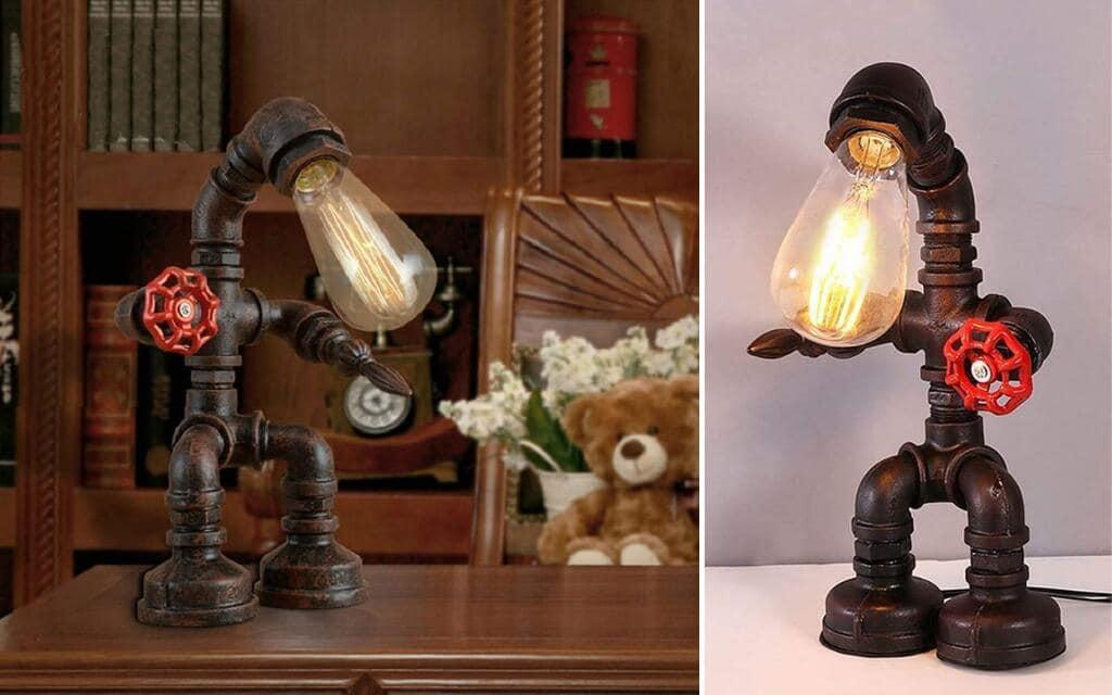 lámpara industrial tubería decoración