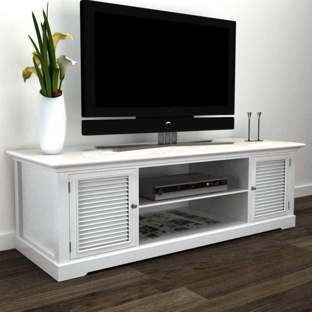 mueble de tv industrial blanco