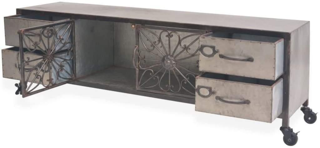 mueble para tv industrial con ruedas