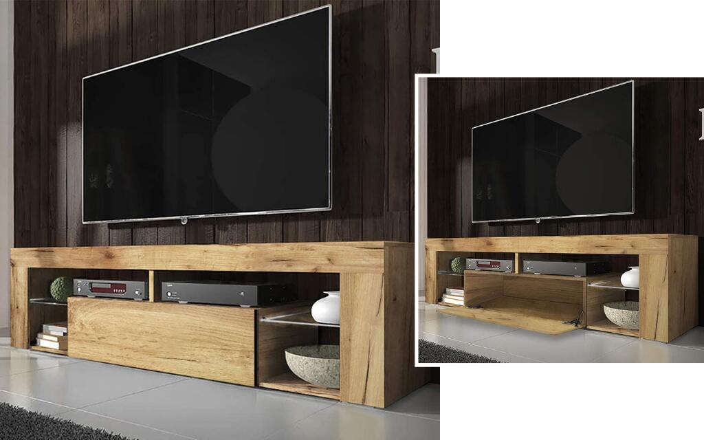 mueble para tv industrial de madera
