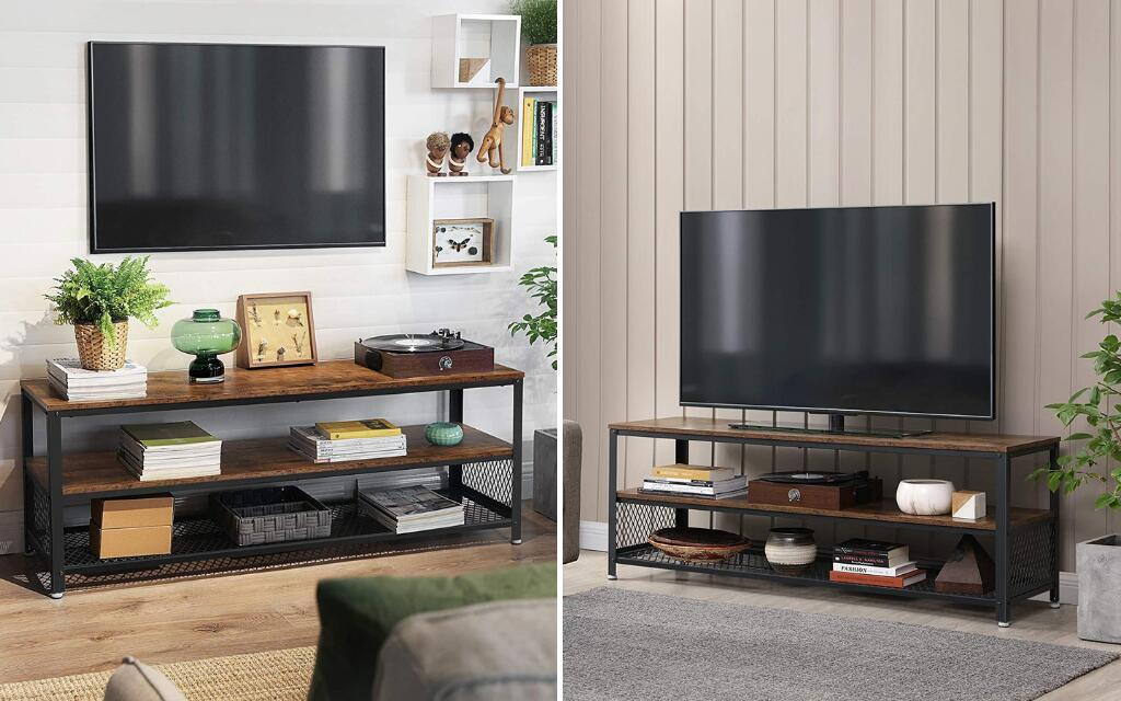 mueble para tv industrial metal y madera