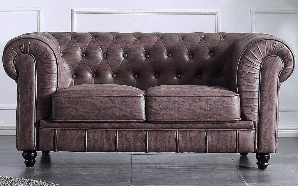 sillón industrial cuero