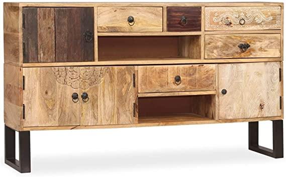 aparador industrial metal madera