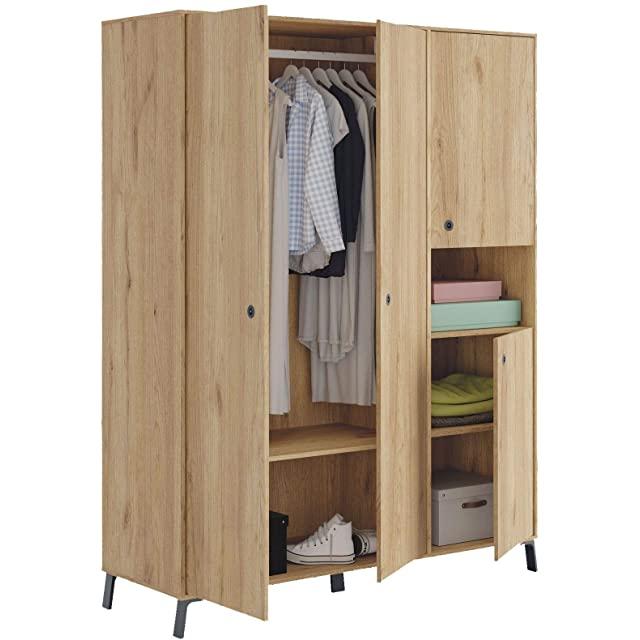 armario estilo industrial para dormitorio