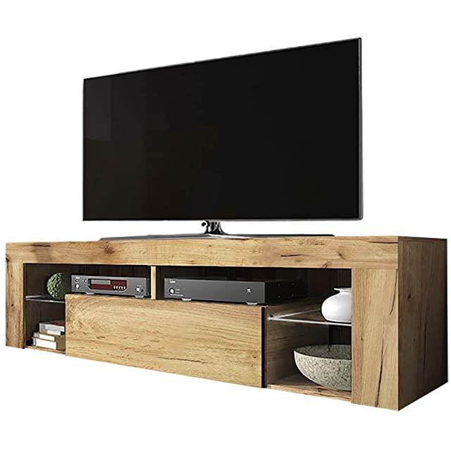 Mueble para TV Industrial Moderno en Madera de Roble