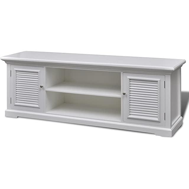 Mueble de Madera Industrial Blanco para TV
