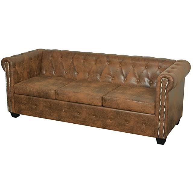 Sofa Estilo Industrial de 3 Cuerpos