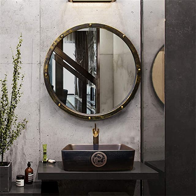 Espejo para Baño Redondo Colgante