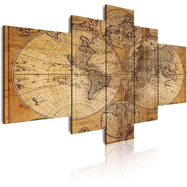Mapa del Mundo Antiguo Estilo Rústico