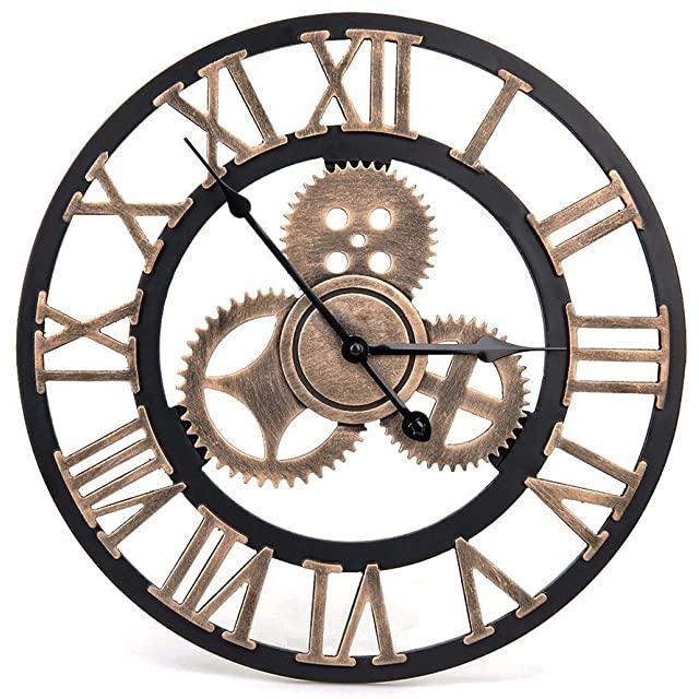 Reloj Estilo Industrial con Engranajes