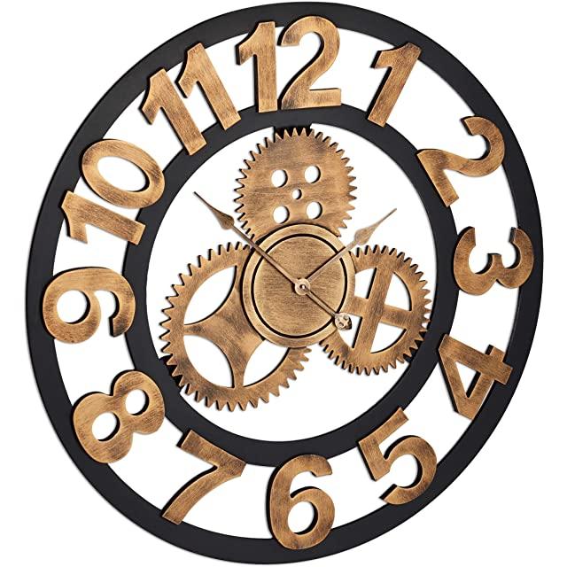 Reloj Estilo Industrial de 80 cm de Diámetro
