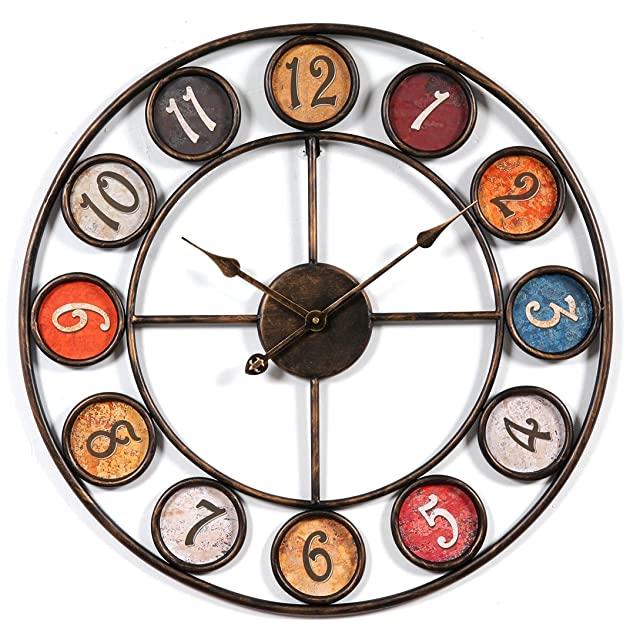Reloj Vintage Industrial de Colores
