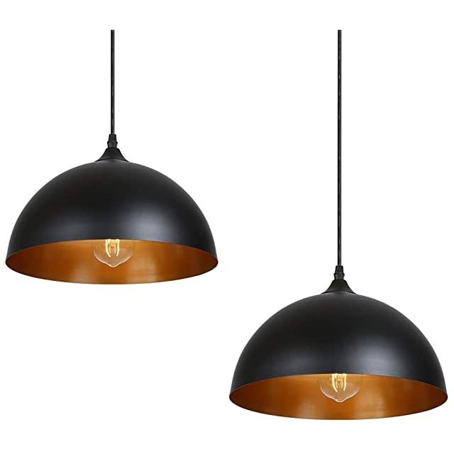 Set de Lámparas Industriales Modernas en Color Negro