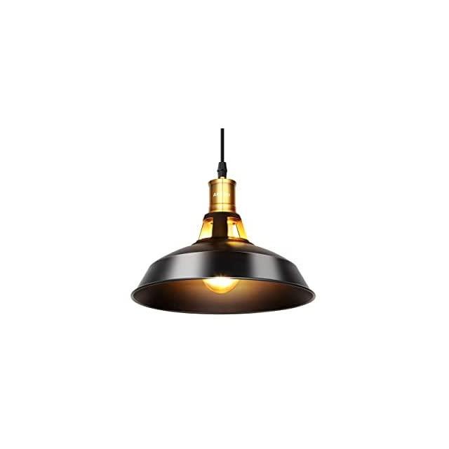 Lámpara con Plafón Colgante Industrial