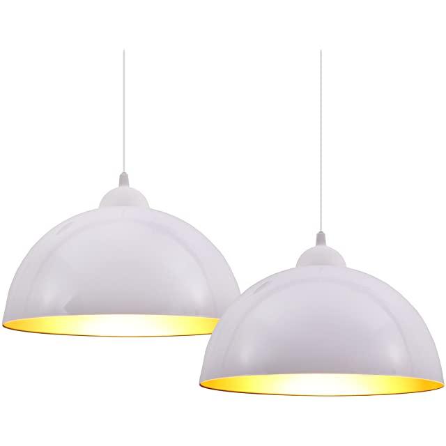 Set de Dos Lámparas Industriales Blancas