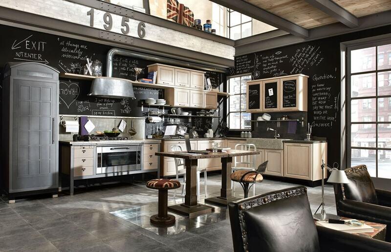 cocina estilo industrial clásica