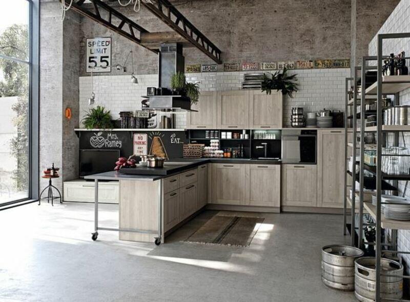cocina industrial con puente grúa