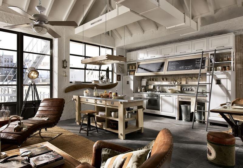cocina rustica industrial
