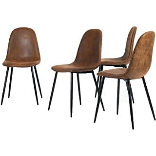 silla estilo industrial tapizada para comedor 02