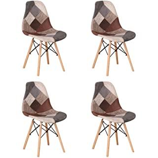 silla estilo industrial tapizada para comedor 04