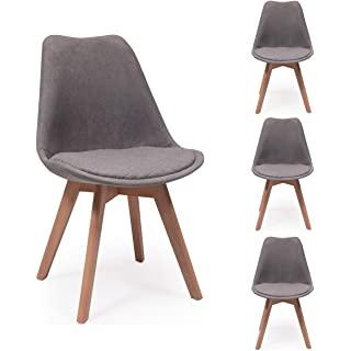 silla estilo industrial tapizada para comedor 05